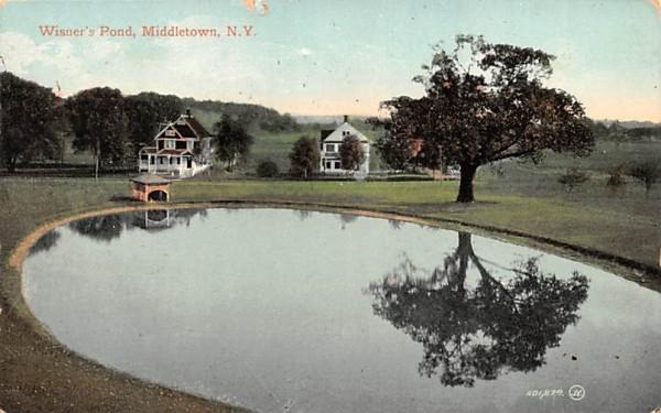 Wisner's Pond Middletown, New York Postcard