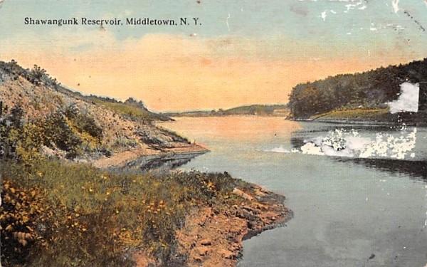 Shawangunk Reservoir Middletown, New York Postcard