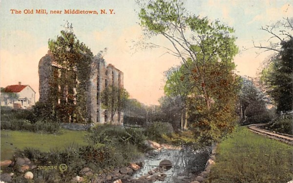 Old Mill Middletown, New York Postcard