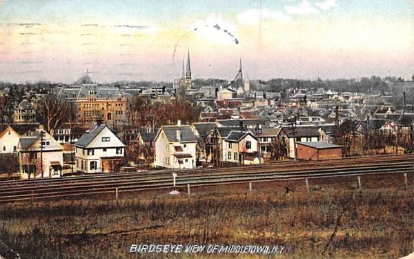 Birds Eye View Middletown, New York Postcard