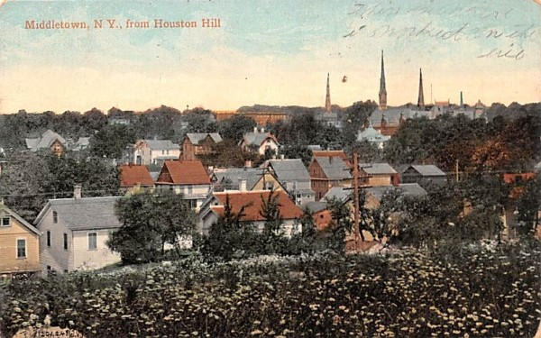From Houston Hill Middletown, New York Postcard