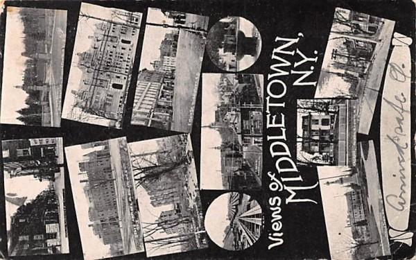 Views of Middletown, New York Postcard