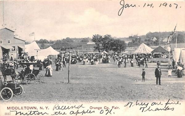 Orange County Fair, before 1906, undivided back postcard Middletown, New York