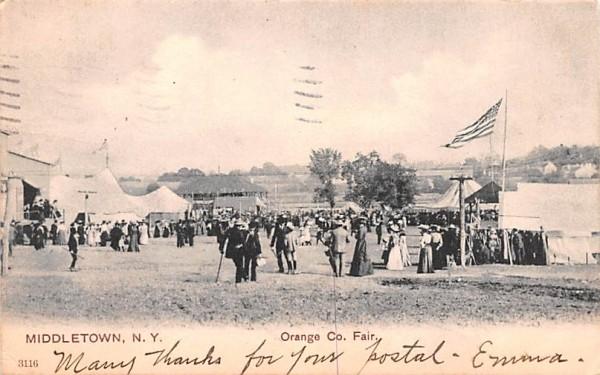 Orange County Fair Middletown, New York Postcard