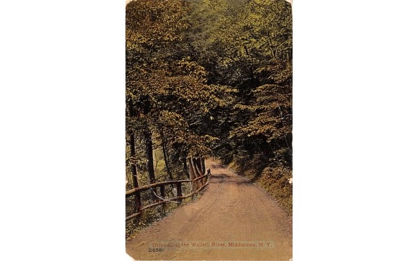Drive along the Wallkill River Middletown, New York Postcard