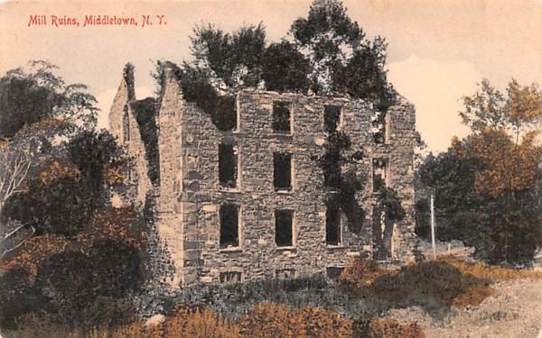 Mill Ruins Middletown, New York Postcard