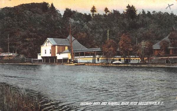 Midway Farm & Wallkill River Middletown, New York Postcard