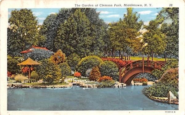 Garden Middletown, New York Postcard
