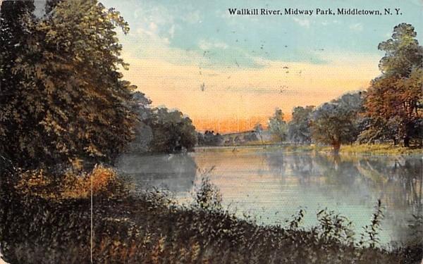 Wallkill River Middletown, New York Postcard