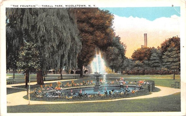 The Fountain Middletown, New York Postcard