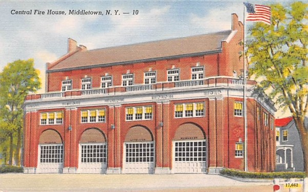 Central Fire House Middletown, New York Postcard