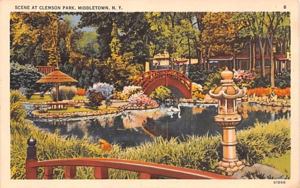 Clemson Park Middletown, New York Postcard