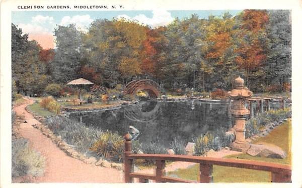 Clemson Gardens Middletown, New York Postcard