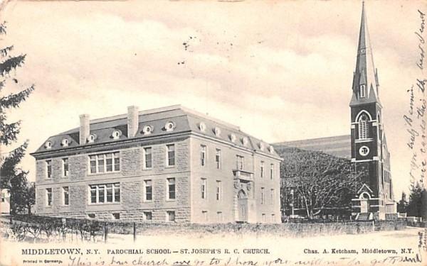 Parochial School Middletown, New York Postcard