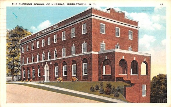 Clemson School of Nursing Middletown, New York Postcard