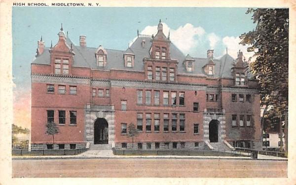 High School Middletown, New York Postcard