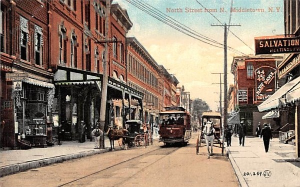 North Street from North Middletown, New York Postcard