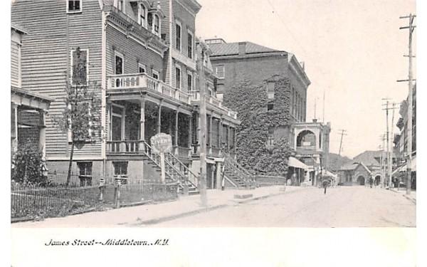 James Street Middletown, New York Postcard