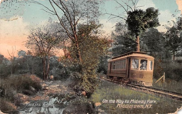 Midway Park Middletown, New York Postcard