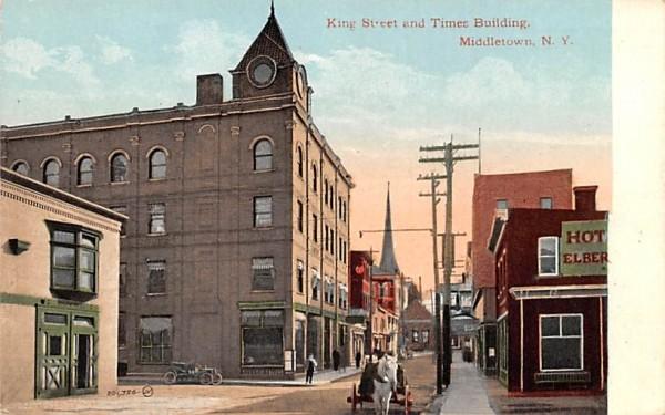 King Street & Times Building Middletown, New York Postcard