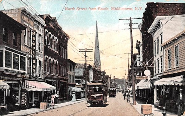 North Street from South Middletown, New York Postcard