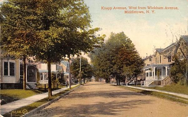 Knapp Avenue Middletown, New York Postcard