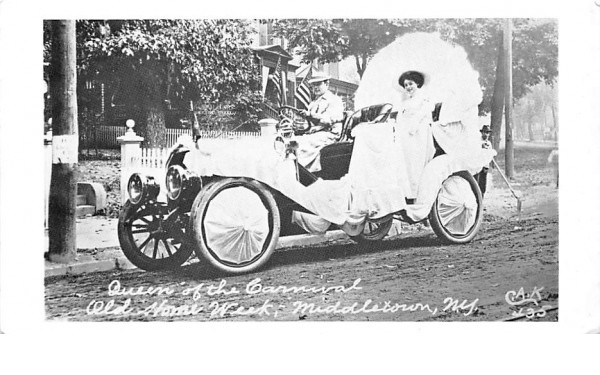 Queen of the Carnival Middletown, New York Postcard
