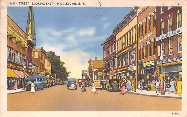 Main Street Middletown, New York Postcard