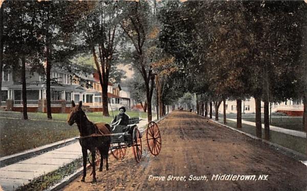 Grove Street Middletown, New York Postcard
