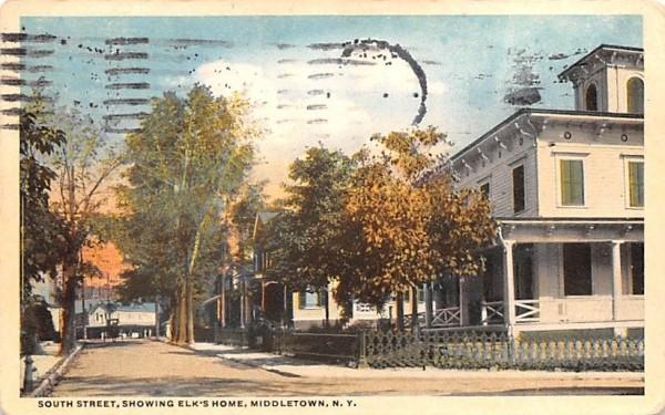 South Street Middletown, New York Postcard