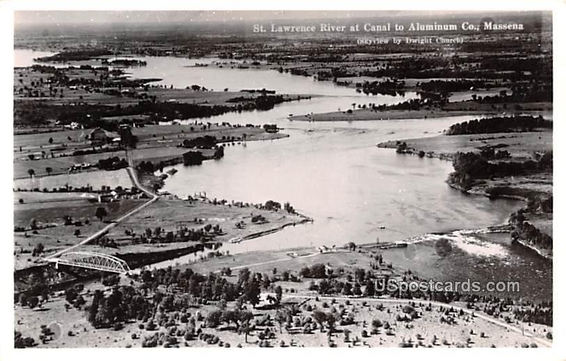 St Lawrence River - Massena, New York NY Postcard