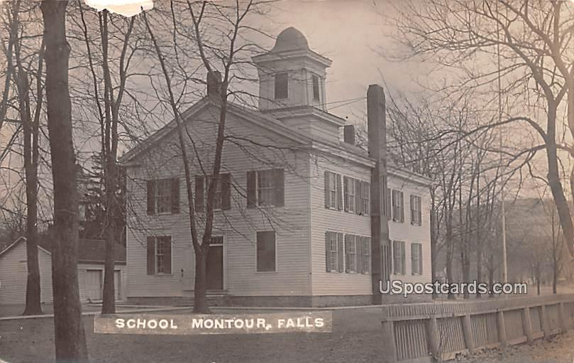 School - Montour Falls, New York NY Postcard