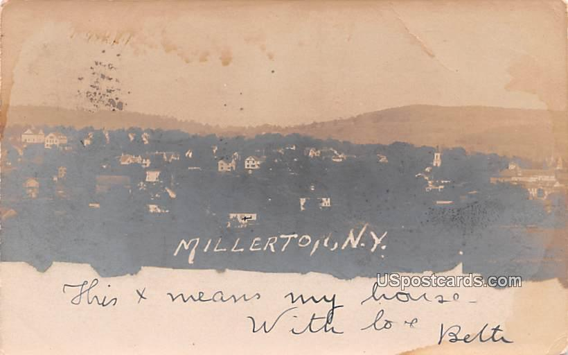 Birds Eye View - Millerton, New York NY Postcard