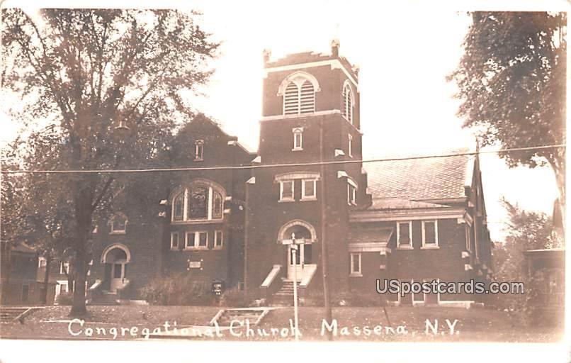 Congregational Church - Massena, New York NY Postcard