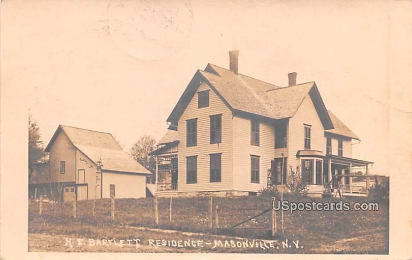 HE Barlett Residence - Masonville, New York NY Postcard