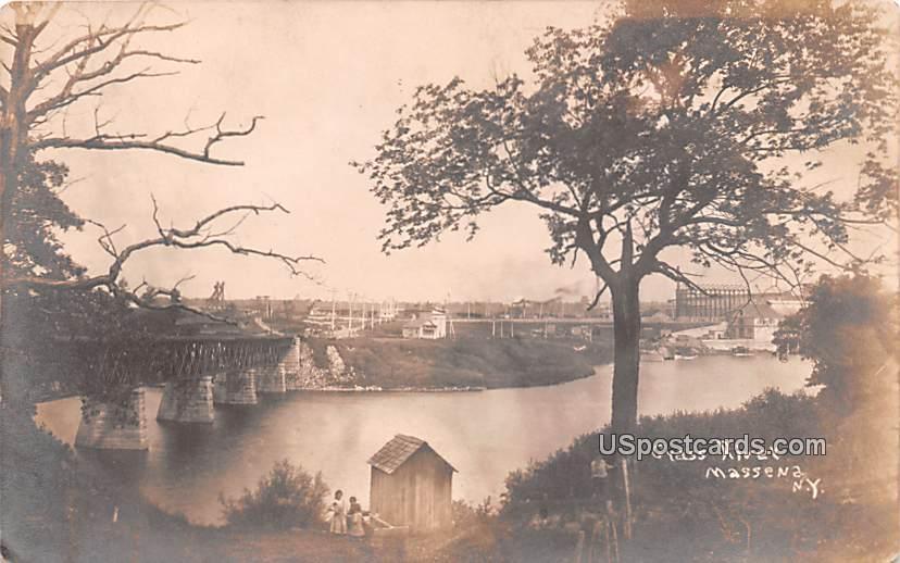 Grass River - Massena, New York NY Postcard