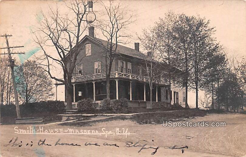 Smith House - Massena, New York NY Postcard