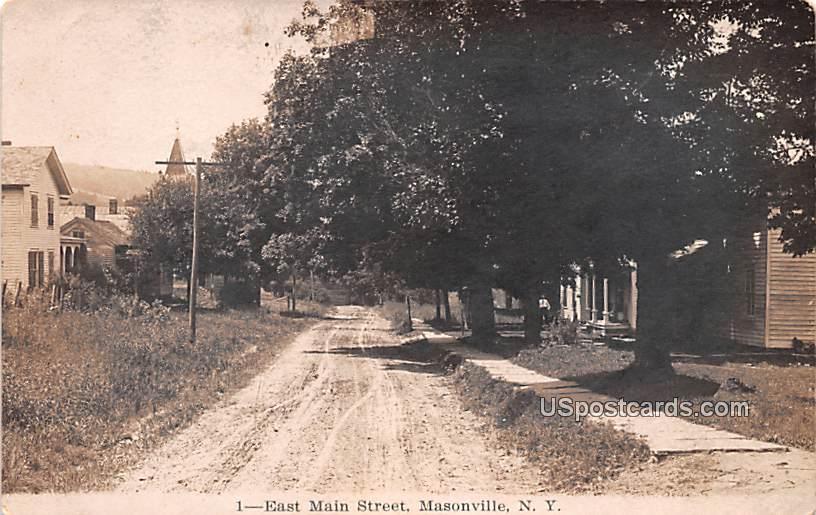 East Main Street - Masonville, New York NY Postcard
