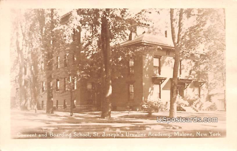 Convent and Boarding School - Malone, New York NY Postcard