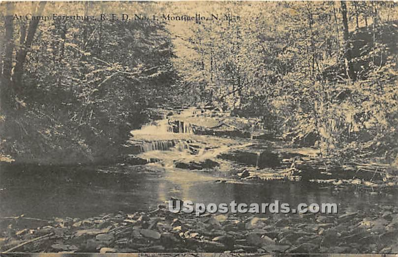 Camp Forestburg - Monticello, New York NY Postcard