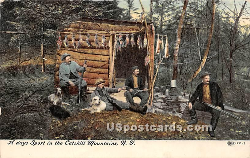 A Day Sport in the Catskill Mountains - Misc. Sullivan County, New York NY Postcard