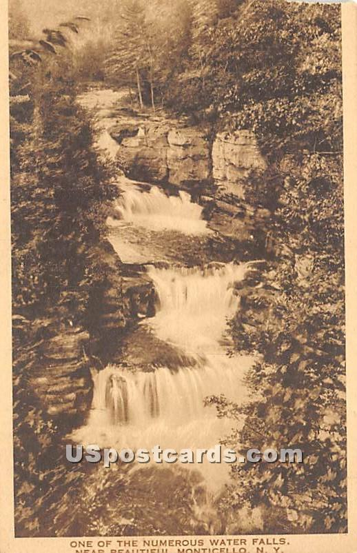 Water Fall - Monticello, New York NY Postcard
