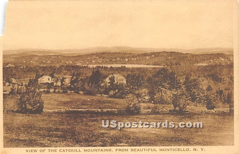 Catskill Mountains - Monticello, New York NY Postcard