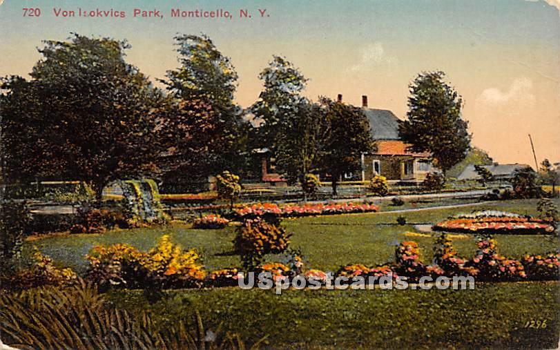 Von Isokvics Park - Monticello, New York NY Postcard