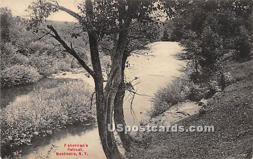 Fisherman's Retreat - Monticello, New York NY Postcard