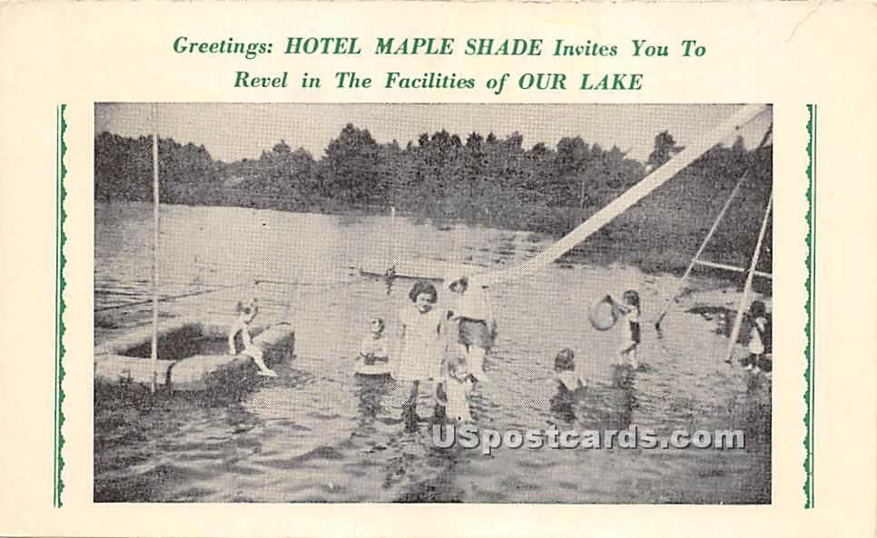 Hotel Maple Shade - Monticello, New York NY Postcard