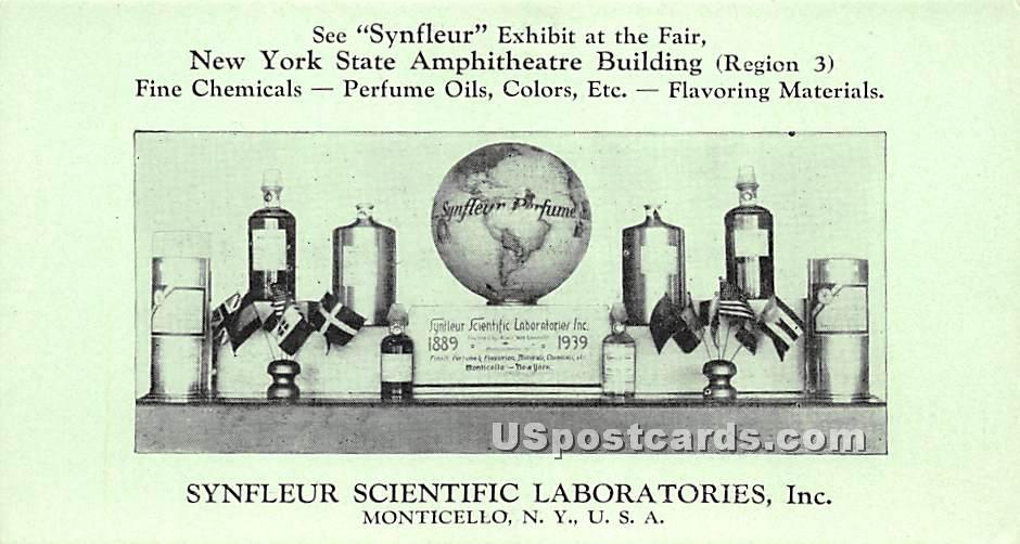 Synfleur Exhibit at the Far - Monticello, New York NY Postcard