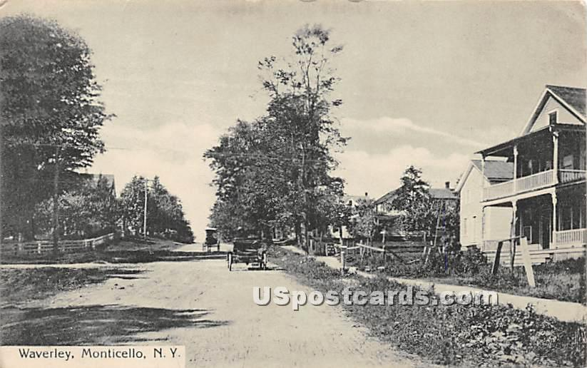 Waverley - Monticello, New York NY Postcard
