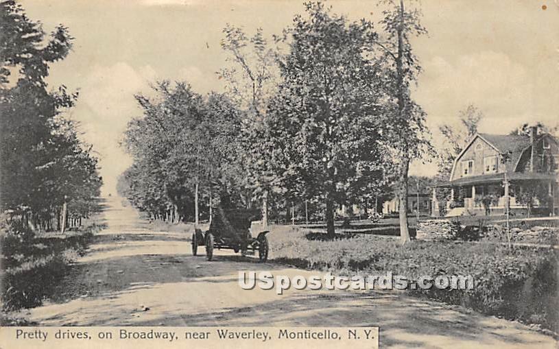 Pretty Drives - Monticello, New York NY Postcard