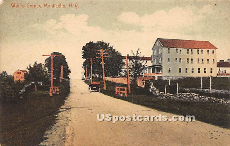 Wolf's Corner - Monticello, New York NY Postcard